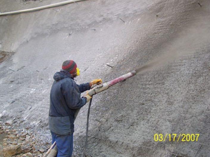shot crete şat kirit püskürtme beton